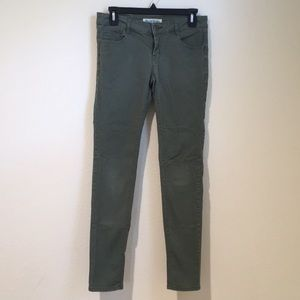 Paris Blues Skinny Jeans Size 5 Olive Green